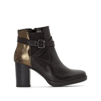 Boots cuir à talon Exclusivité La Redoute Boots cuir à talon Exclusivité La Redoute JONAK