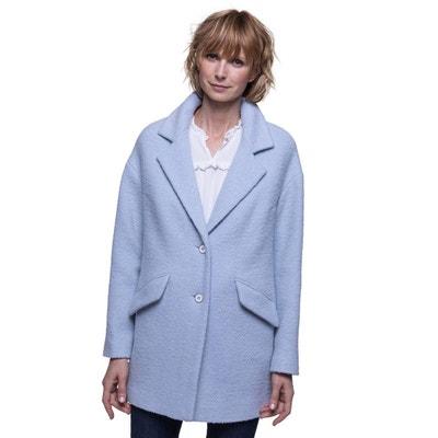 Manteau laine femme oversize