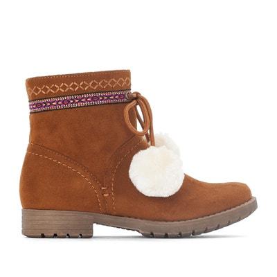 Boots con ricami e pompon 28-34 La Redoute Collections