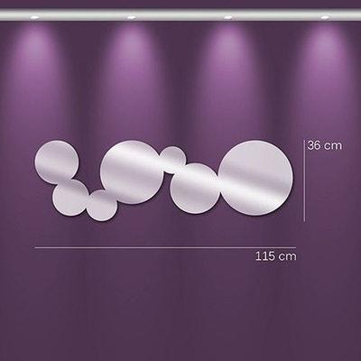 Miroir design bulles allongée TENDANCE MIROIR