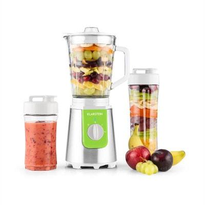 Klarstein Shiva Mixeur Smoothie 0,8l Pichet en verre 350W Sans BPA inox -vert KLARSTEIN