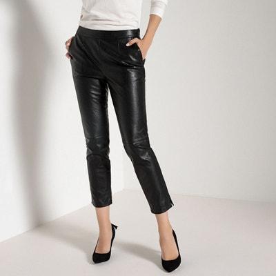 Pantalon droit raccourci en simili ANNE WEYBURN