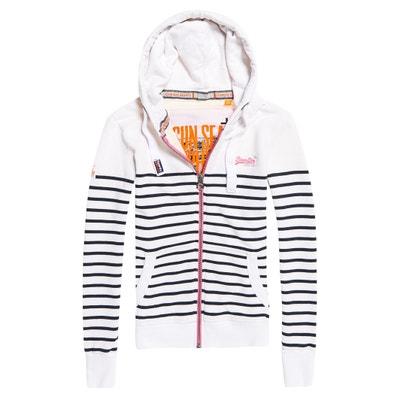 Striped Zip-Up Hoodie Striped Zip-Up Hoodie SUPERDRY