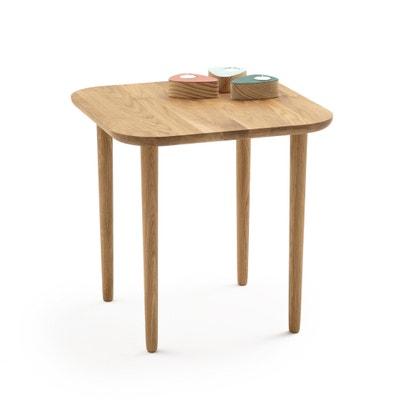 Table basse haute carrée chêne CRUESO Table basse haute carrée chêne CRUESO La Redoute Interieurs