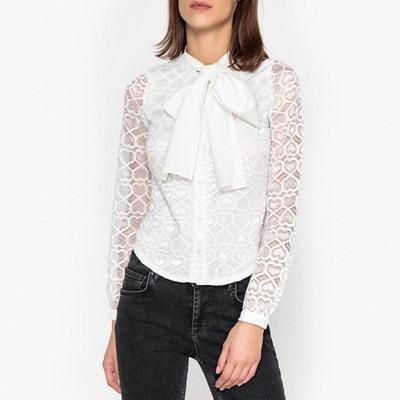 Рубашка с завязками, кружевная отделка Рубашка с завязками, кружевная отделка SISTER JANE