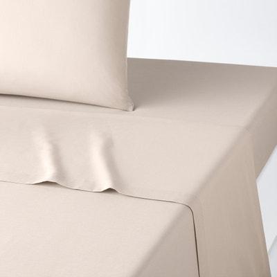 Lenzuolo tinta unita in cotone/poliestere Lenzuolo tinta unita in cotone/poliestere La Redoute Interieurs