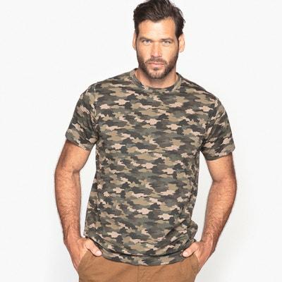 Camiseta de cuello redondo con estampado camuflaje Camiseta de cuello redondo con estampado camuflaje CASTALUNA FOR MEN