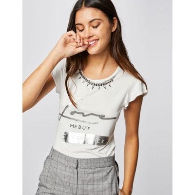 00b6d1db5aff3 T-shirt col bijoux avec imprimé T-shirt col bijoux avec imprimé MORGAN