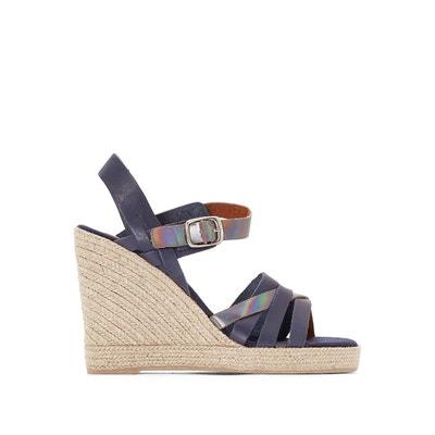 Sandales cuir talon compensé Astrid PARE GABIA