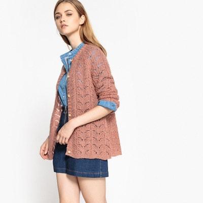 Cardigan maglia ricamata, lana Cardigan maglia ricamata, lana La Redoute Collections
