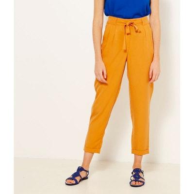 Pantalon carotte en tencel CAMAIEU