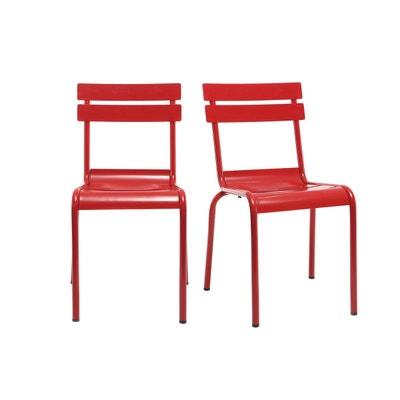 Chaise Design Mtal Lot De 2 SHERMAN