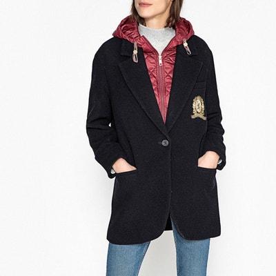 Manteau pure laine à col intérieur amovible Manteau pure laine à col intérieur amovible TOMMY HILFIGER