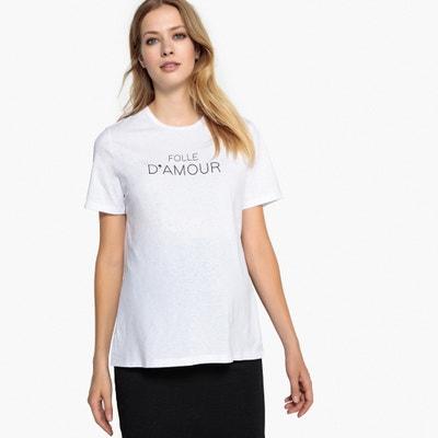 T-shirt para grávida, com mensagem T-shirt para grávida, com mensagem LA REDOUTE MATERNIDADE