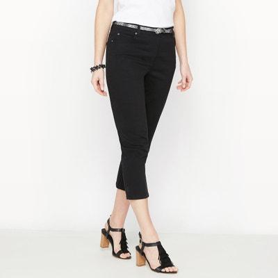 Pantaloni a pinocchietto ricamati, cotone stretch ANNE WEYBURN