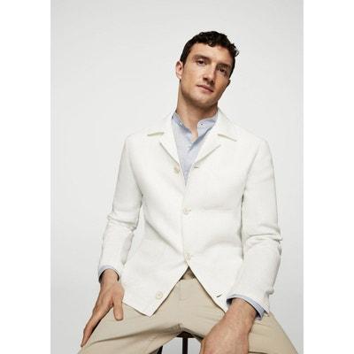 Veste en lin blanche pour homme