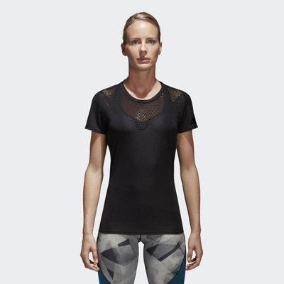 adidas tee shirt manches longues femme 3 stripes dh3183 noir