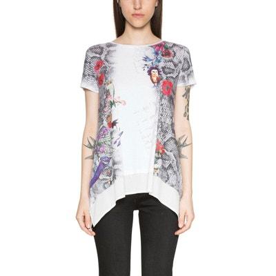 Tee shirt col rond imprimé graphique DESIGUAL