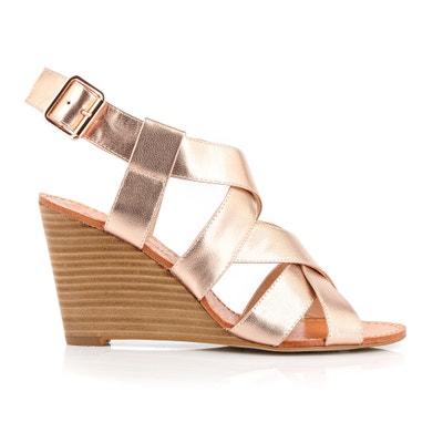 Sandales cuir talon compensé Dalinette MELLOW YELLOW