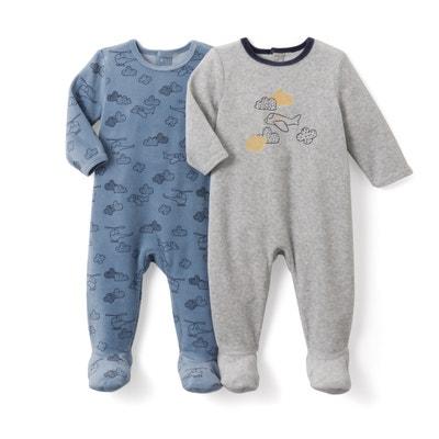 Conf. da 2 pigiama in velluto da 0 mesi a 3 anni La Redoute Collections
