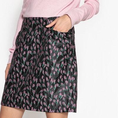 Floral Jacquard Print Skirt Floral Jacquard Print Skirt MADEMOISELLE R