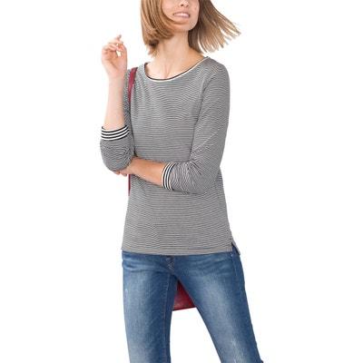 Omkeerbare gestreepte T-shirt ESPRIT