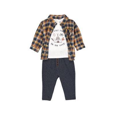 Ensemble bébé col polo, chemise manches longues La Redoute Collections