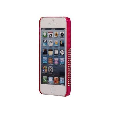 Bumper strass rose pour iPhone 5   5S COQUEDISCOUNT ec3e585bb9b