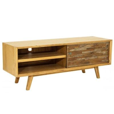 meuble tv teck recycl color porte coulissante lombok meuble tv teck recycl color porte coulissante lombok - Petit Meuble Porte Coulissante