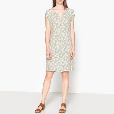 Bedrucktes Kleid ROSETTE mit ausgestellter Form Bedrucktes Kleid ROSETTE mit ausgestellter Form HARTFORD