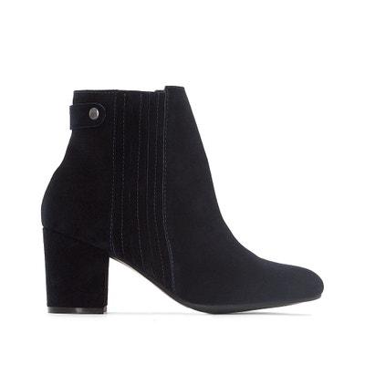 Wide Fit Suede Ankle Boots CASTALUNA