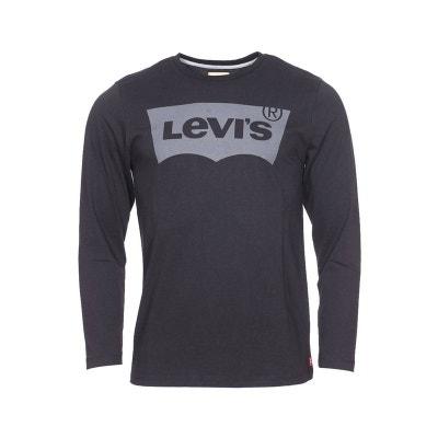 Tee-shirt manches longues col rond   en coton   floqué du logo Tee-shirt manches longues col rond   en coton   floqué du logo LEVI'S