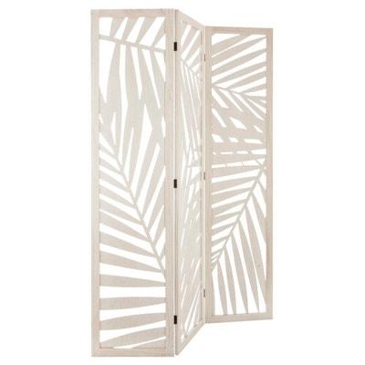 Paravent contemporain blanc 120x170 cm DECORATIE