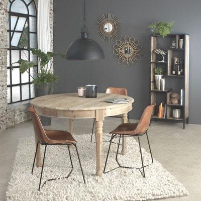 Chaise industrielle cuir et métal pieds trapèze  |  ME Chaise industrielle cuir et métal pieds trapèze  |  ME MADE IN MEUBLES