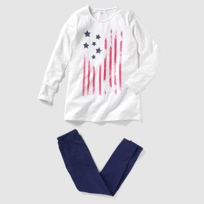 Pijama de punto estampado 10-16 años (lote de 2) Pijama de punto estampado 10-16 años (lote de 2) La Redoute Collections