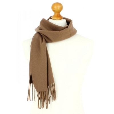 054bf019a967 Echarpe marron camel luxe unie en laine d Australie, 37x180cm TONY ET PAUL