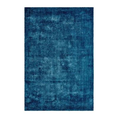 tapis poils court bleu en tencel anti tches vanity tapis poils court bleu - Tapis 200x300