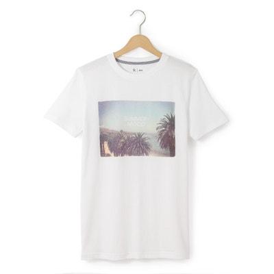 T-shirt estampada, mangas curtas 10-16 anos T-shirt estampada, mangas curtas 10-16 anos La Redoute Collections