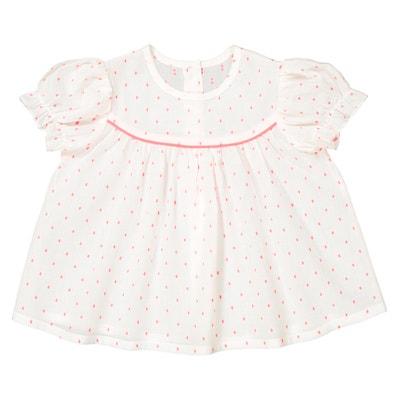 Bedrukte blouse met korte mouwen 1 mnd - 3 jr La Redoute Collections