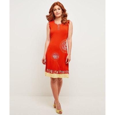 95b48aa6aa817 Robe couleur corail pour mariage en solde   La Redoute
