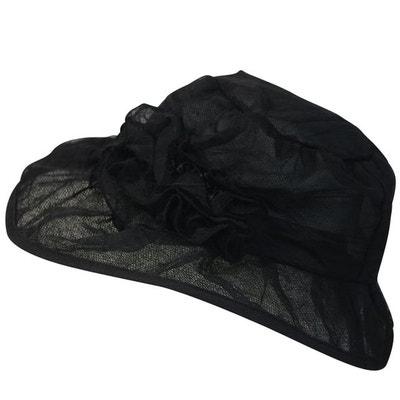 Chapeau de cérémonie noir Elise CHAPEAU-TENDANCE