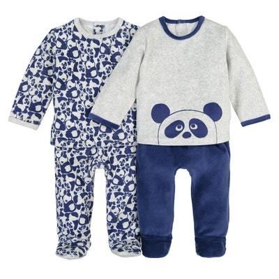 Zweiteiliger Samt-Pyjama, 0 Monate -3 Jahre (2er-Pack) Zweiteiliger Samt-Pyjama, 0 Monate -3 Jahre (2er-Pack) La Redoute Collections