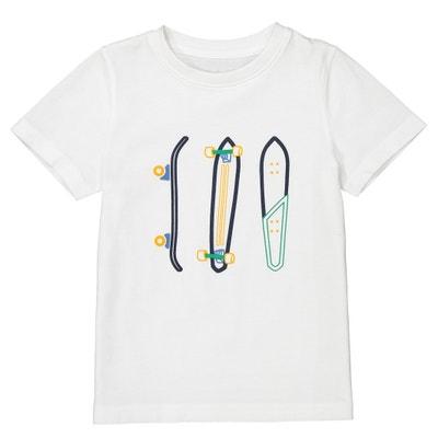T-Shirt mit aufgedruckten Skateboard-Motiven, 3-12 Jahre T-Shirt mit aufgedruckten Skateboard-Motiven, 3-12 Jahre La Redoute Collections