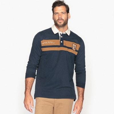 Polo bicolor, manga larga CASTALUNA FOR MEN