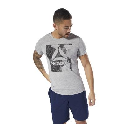 Tee shirt  col rond manches courtes imprimé devant Tee shirt  col rond manches courtes imprimé devant REEBOK
