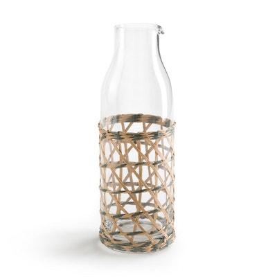 Carafe à eau en verre et tressage QUALIMNA Carafe à eau en verre et tressage QUALIMNA LA REDOUTE INTERIEURS
