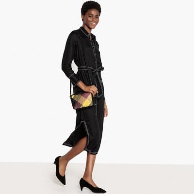 Tie-Waist Midi Shirt Dress La Redoute Collections
