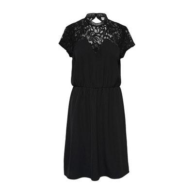 Kleid mit Spitzendetails am Ausschnitt Kleid mit Spitzendetails am Ausschnitt JACQUELINE DE YONG