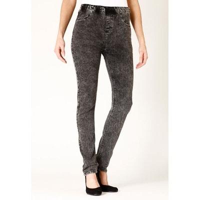 d241beb3d7063 Jeans coupe legging stretch taille haute élastiquée neige RUBIS RICA LEWIS