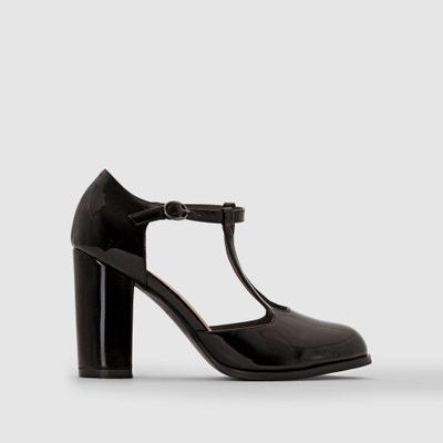 Gelakte pumps met hoge hak, brede voet CASTALUNA